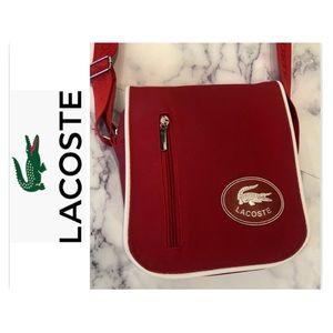 Lacoste Red Unisex Crossbody Messenger Bag